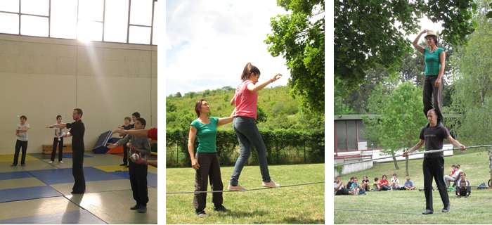 ateliers avec des artistes de cirque au collège Rameau - 2014